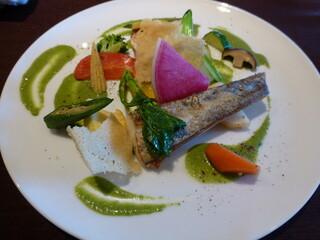 祇園 Abbesses - 鮮魚のポワレ 春菊のソース