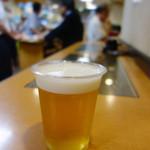 味の笛 - 生ビールはプラコップ