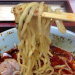 地獄ラーメン 田中屋 - 2014.12 麺はこんな感じです。