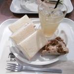 ナゴヤ キッチュ エ ビオ - サンドウィッチ3種類とドリンク・デザート