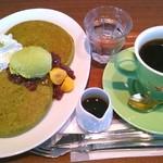 小川珈琲 サウスウッド店 - 抹茶パンケーキ&ブレンド