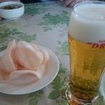 チョムパイ - 2014/12/05・12:10 煎餅&生ビール