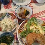 繚乱 - 大豆メンチ定食