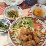 繚乱 - 豆腐つくねと大豆ミート定食