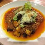 HiDE - 茄子とひき肉のリゾット