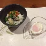33545861 - ゆで牡蠣の卵かけご飯