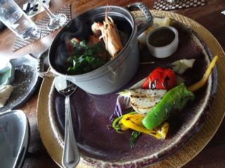 山都茶寮 - 山と海のブイヤベース×採れたて野菜の薪焼き