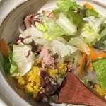 33550771 - もち豚のソテーと有機野菜のローマ飯!