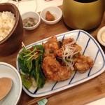 こめらく - 塩唐揚げ定食(ランチ¥980)