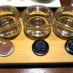 上四十川 舌心 - のみくらべ三種(日本酒)