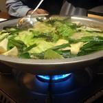 上四十川 舌心 - 鶏ハラミ鍋