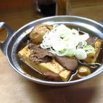 煮込 蔦八 - 煮込み豆腐玉子入430円