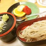 赤坂 光楽亭 - 〆のお蕎麦とデザート