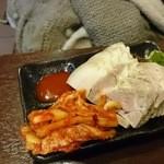 冷麺館 大国町店 - 蒸し豚