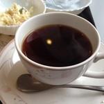 珈琲館けやき - H.26.12.18.朝 トーストモーニング 600円 パーツ(ホットコーヒー)