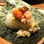 月よみ庵 - 香箱蟹寿司 (2014/12)
