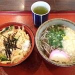 庵々 - 料理写真:そばセット(蕎麦+ミニ玉子丼)820円