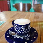 グリーンラバーズ - ホットのカフェオレをいただきました