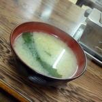 一九 - ワカメの味噌汁_150円