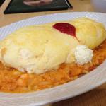 ふんわり卵 - スフレ卵リゾット 海老トマトクリーム990円