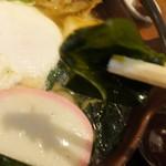増田うどん - 鍋焼きうどん 880円のワカメのアップ 【 2014年12月 】