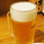 恵水産 - 566円『サッポロ生ビール』2014年12月吉日