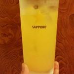 刺身一番 - カルピス無いので2杯目のオレンジジュース