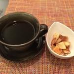 ムーン カフェ - ホットコーヒー おまけのラスク ※2014年12月