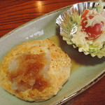 清水庵 - 小鉢2品(豆腐ハンバーグとポテトサラダ)