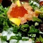 旬彩串焼 だん - とろサーモンのタルタルサラダ♪