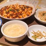 点心楼 台北 - 夜の定食、麻婆豆腐