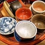 活麺富蔵 - 熱燗用の御猪口いろいろ
