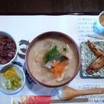麺喰 - 粕汁うどんセット(H26.12.19)