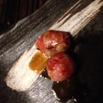 三拍子 - プチトマト巻き