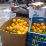迪化街金桔檸檬 - 柳丁(輸入オレンジ)、臺湾産檸檬、金柑。