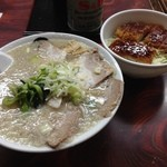 伊藤商店 - 白の中華そば+ミニソースかつ丼セット(2014/1/6)