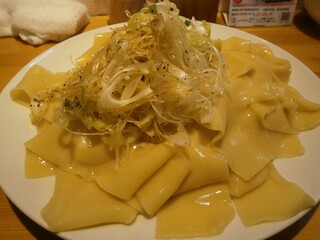 りきどう - これが私の食べたつけ麺の凄平麺(+ネギ)です。