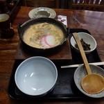 """円空庵びっくり - 料理写真:鉄鍋で出てくる""""雑煮""""です。"""