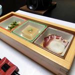 居食家 寿 - <5500円コース>お通し三種盛