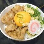 肉玉そば おとど - (セルフ)ごはん+焼肉+卵黄+ニンニク+ネギ 2014.9.13