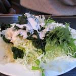 かねやす - 料理写真:私は海藻と野菜でサラダを作ってみました。