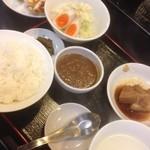 33612913 - 餃子角煮定食A+ちょこっとカレー