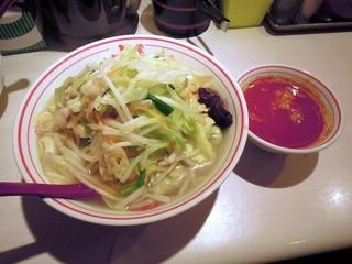 蒙古タンメン中本 品川店 - 【再々訪】塩タンメン(野菜大盛)+プチ北極