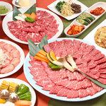 炭火焼肉 新羅 - 料理写真:新羅自慢の新羅コース!リピーター続出のコース料理です。