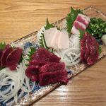 くすお - 馬刺5点盛り合わせ(2014/12/20撮影)
