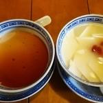 33621892 - プーアールパンナコッタ/杏仁豆腐
