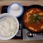 松屋 - 豆腐キムチチゲ(生卵)530円