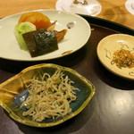 日本料理 太月 - 26年12月 縮緬、お新香、振り掛け