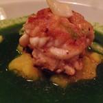 ビストロ シロ - 真鱈白子のムニエル、春菊のソース