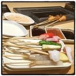 串家物語 - ランチ。 自分で揚げるスタイル。 ササミ